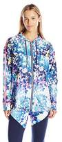 Juicy Couture Black Label Women's Spt Printed Vinyl Jacket