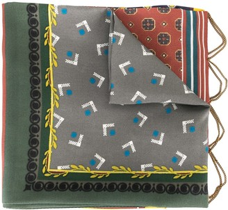 Kolor Chain Detail Silk Scarf