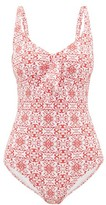 Melissa Odabash Lisbon Tile-print Swimsuit - Womens - Red Print
