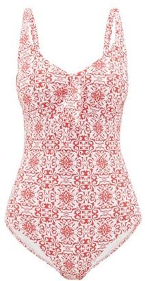 Melissa Odabash Lisbon Tile-print Swimsuit - Womens - Red Print