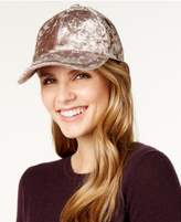 INC International Concepts Crushed Velvet Baseball Cap, Created for Macy's