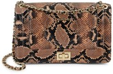 Mario Valentino Valentino By Alice Snakeskin-Embossed Leather Shoulder Bag