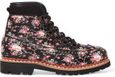 Tabitha Simmons Bexley Floral-print Leather Ankle Boots - Black
