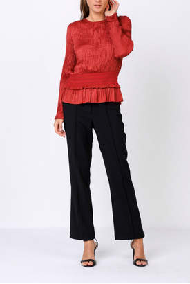 Current Air Pleated top with smocked waist