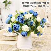XHOPOS HOME-Fake flowers Artificial Flowers,Rose,Ceramic Vases,Blue,Decorative FlowersBridal Accessories Arts Crafts Home Garden Decoration By XHOPOS HOME