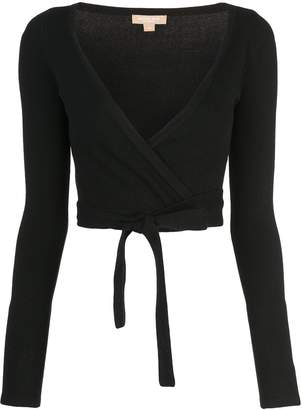 Michael Kors wrap knitted top