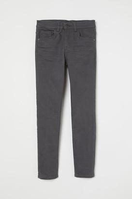 H&M Skinny Fit Twill Pants - Gray