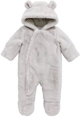 Very Baby Unisex Faux Fur Cuddle Suit - Grey