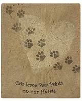 "CafePress - Paw Prints On Our Hearts - Soft Fleece Throw Blanket, 50""x60"" Stadium Blanket"