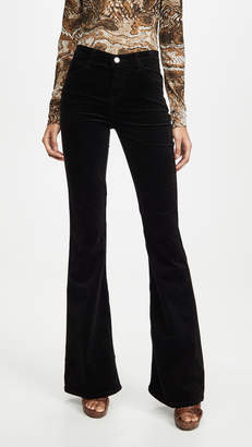 J Brand Valentina Velvet High Rise Flare Pants