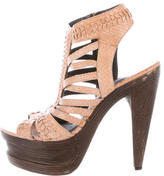 Elizabeth and James Embossed Platform Sandals