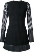 David Koma lace layer mini dress