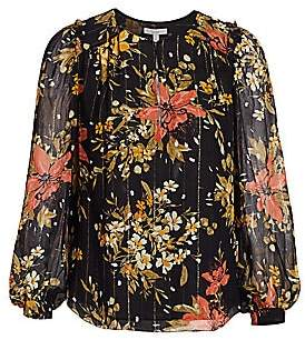 Joie Women's Albany Floral Silk Blouse