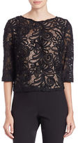 Marina Sequined Lace Crop Top