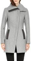 Soia & Kyo 'Jana' Asymmetrical Wool Blend Coat