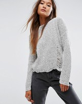 Asos Sweater With Deconstructed Hem