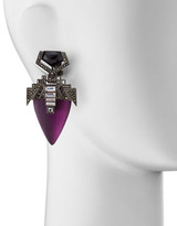 Alexis Bittar Santa Fe Deco Lucite Drop Clip Earrings, Purple