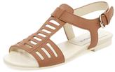 Jil Sander Navy Cut-Out Flat Leather Sandal
