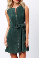 Paper Crane Green Corduroy Dress