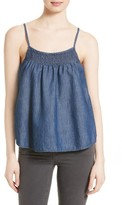 Soft Joie Women's Manisha Smocked Chambray Tank