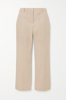 Nina Ricci Cotton-twill Straight-leg Pants - Beige