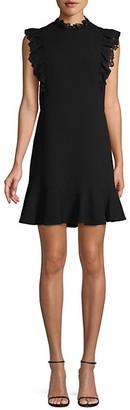 Rebecca Taylor Lace-Trim Mini Dress