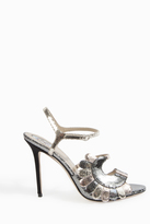 Paula Cademartori Metallic Strappy Sandals