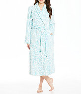 Miss Elaine Damask Luxe Fleece Long Wrap Robe