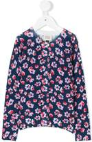 Armani Junior flower print cardigan
