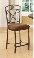 Acme Tavio Fabric Counter Height Chair in Antique Bronze (Set of 2)