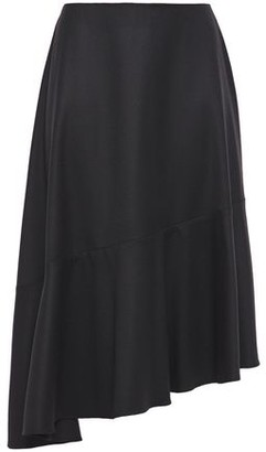 Carven Asymmetric Wool-twill Skirt