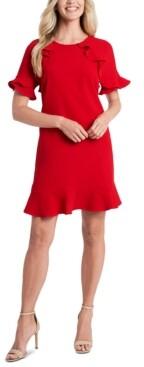 CeCe Ruffled A-Line Dress