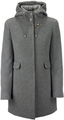 Fay Double Coat In Cashmere Blend Velor