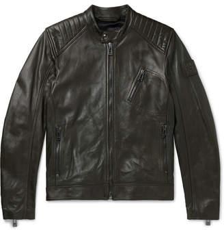 Belstaff V Racer Slim-Fit Leather Biker Jacket