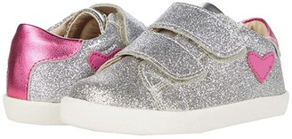Old Soles The Beat (Toddler/Little Kid) (Glam Argent/Fuchsia Foil/Silver/Fuchsia) Girl's Shoes