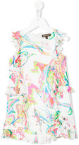 Roberto Cavalli animal print dress - kids - Silk/Acetate/Cupro - 4 yrs