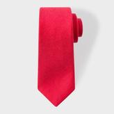Paul Smith Men's Red Textured Narrow Linen-Silk Tie