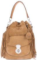 Ralph Lauren Ricky Fringe Suede Bucket Bag