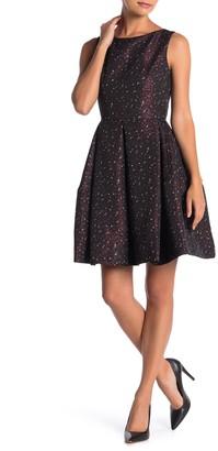 Taylor Metallic Jacquard Fit & Flare Dress