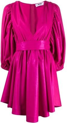 MSGM Tied Mini Dress