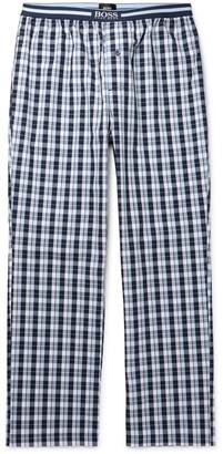 HUGO BOSS Checked Cotton-Poplin Pyjama Trousers