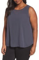 Nic+Zoe Plus Size Women's Sheer Collection Top