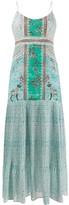 Saloni Pleated Printed Silk Dress