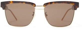 Gucci Browline Square Acetate And Metal Sunglasses - Mens - Tortoiseshell