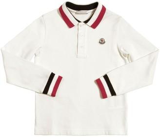 Moncler Logo L/s Cotton Piquet Polo