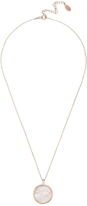 Zodiac Mother Of Pearl Gemstone Star Constellation Pendant Necklace - Sagittarius