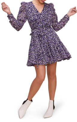 ASTR the Label Desiree Floral Long Sleeve Minidress