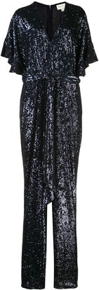 Sachin + Babi V-neck sequin embellished jumpsuit
