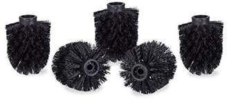 Camilla And Marc Relaxdays Toilet Brush Head Set of 5, Loose Toilet Brushes, 9.5 mm Threads, Replacement Heads, Diameter 8 cm, Black