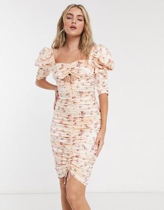 For Love & Lemons Aster Floral Midi Dress